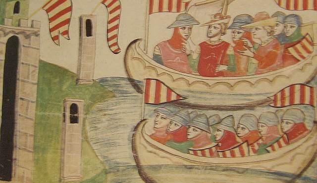 Arrival of Aragonese fleet
