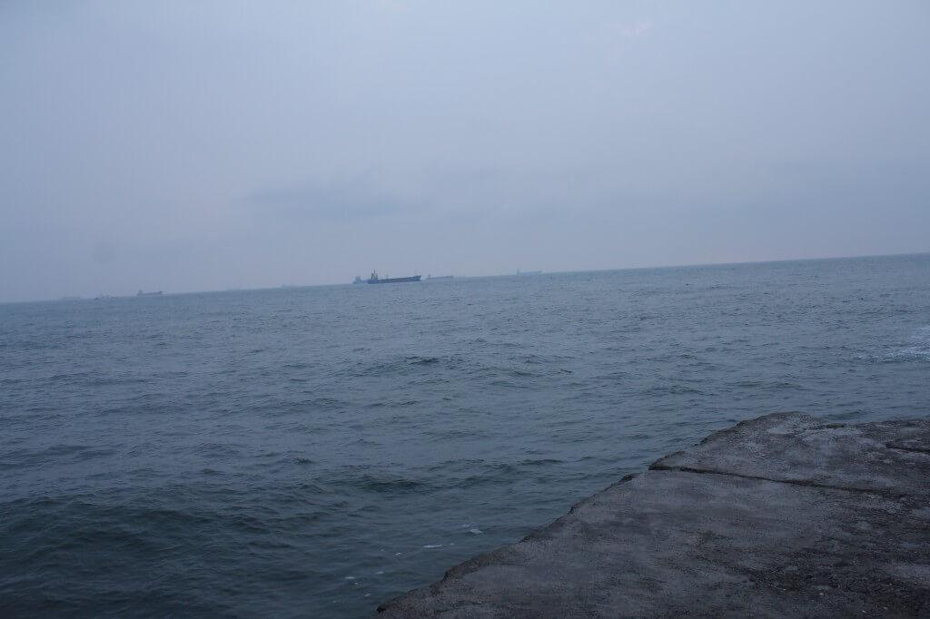 旗津岛的海