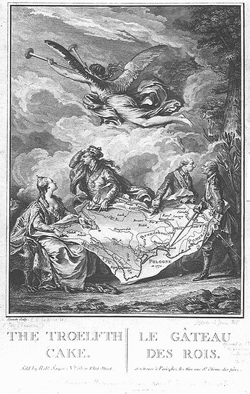 Allegory of the 1st partition of Poland
