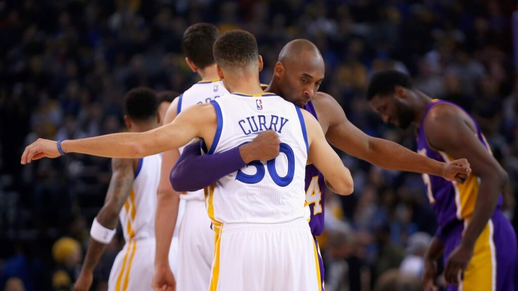 Kobe passes torch to Curry