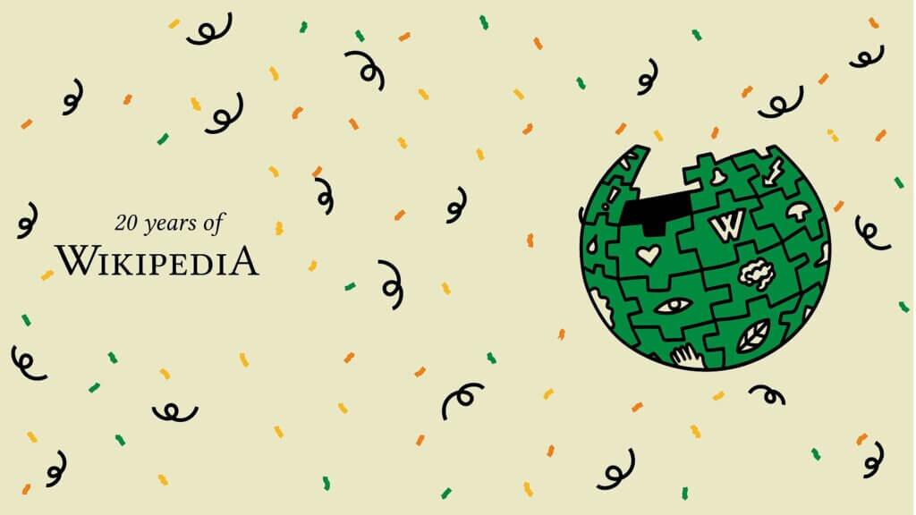 维基百科20周年了